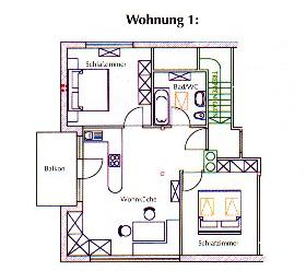 Grundriss.Wohnung 1